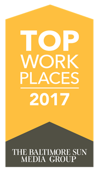 a banner that says top places to work 2017